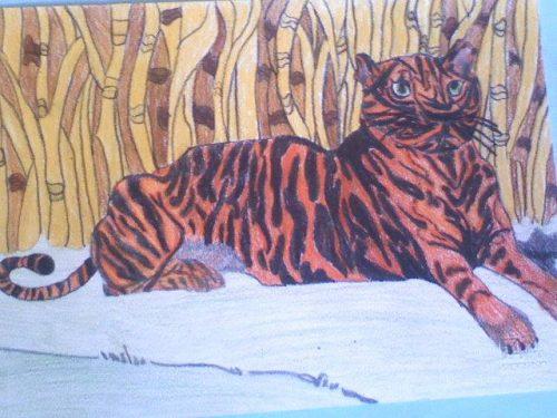 Disegno di Ilaria Pozzati, fatto alle scuole medie.