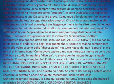 Testimonianza di Giorgia La Spada