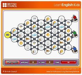 Gioco per imparare i termini sul tempo atmosferico in Inglese