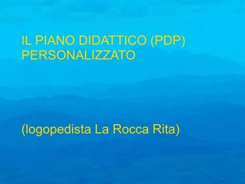 Slide Piano didattico personalizzato ( Rita La Rocca)